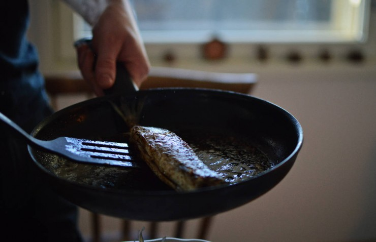 Fried whitefish with Lura, the Finnish-Italian beer