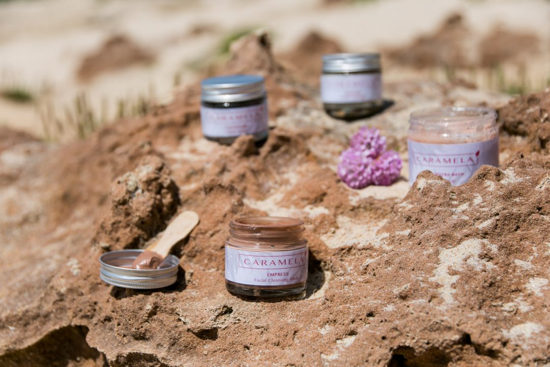 Natural skin care by the Portuguese brand Caramela   on Due fili d'erba   Two blades of grass   by Thais FK