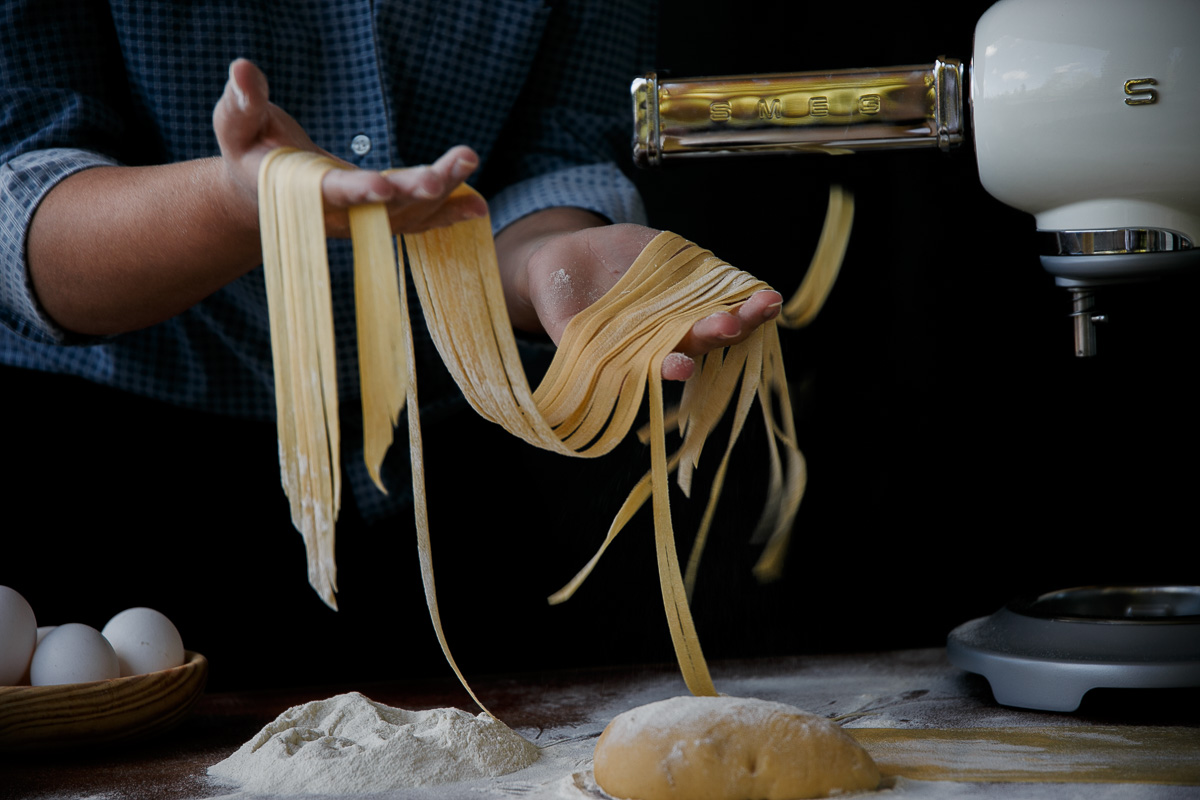 World Pasta Day   Walnut Blue cheese fettuccine with Smeg Nordic ravioli maker and pasta roller attachment for the stand mixer   Recipe on Due fili d'erba   Two Blades of grass   Photos, styling and recipe by Thais FK