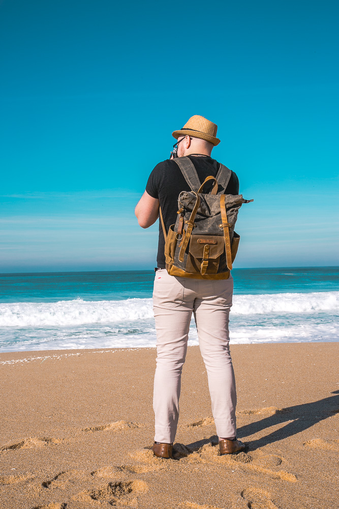 Cotswold Hipster Waxed Canvas and Leather Backpack   The perfect travel backpack   Leather camera backpack   on Due fili d'erba by Thais FK