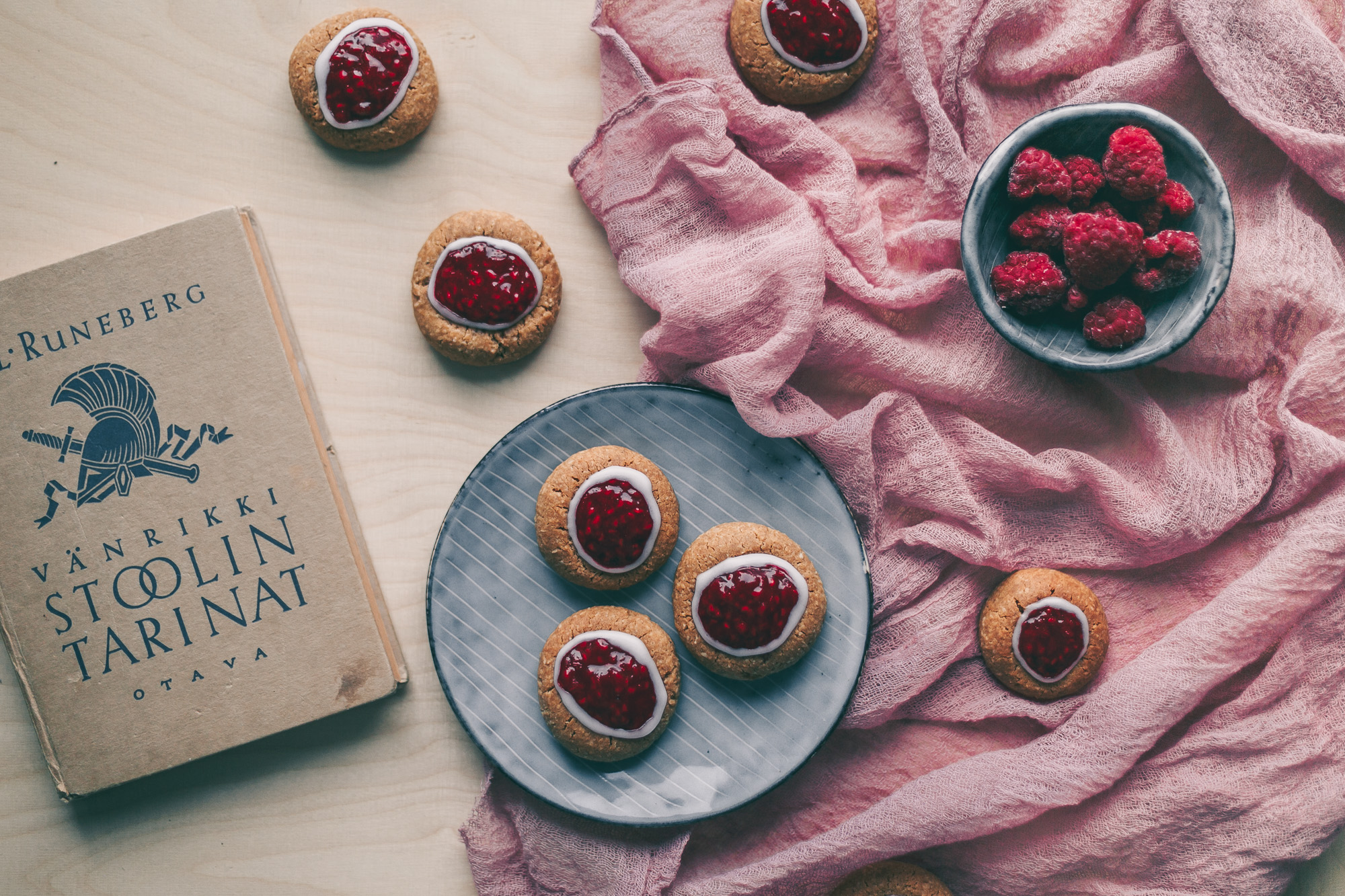 Runeberg's thumbprint cookies Recipe on The Adagio Blog   Recipe, Photography and styling by Thais FK