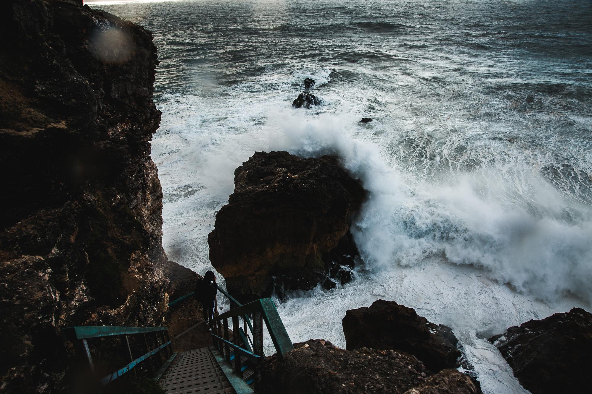 Nazaré waves photo journal on The Adagio Blog
