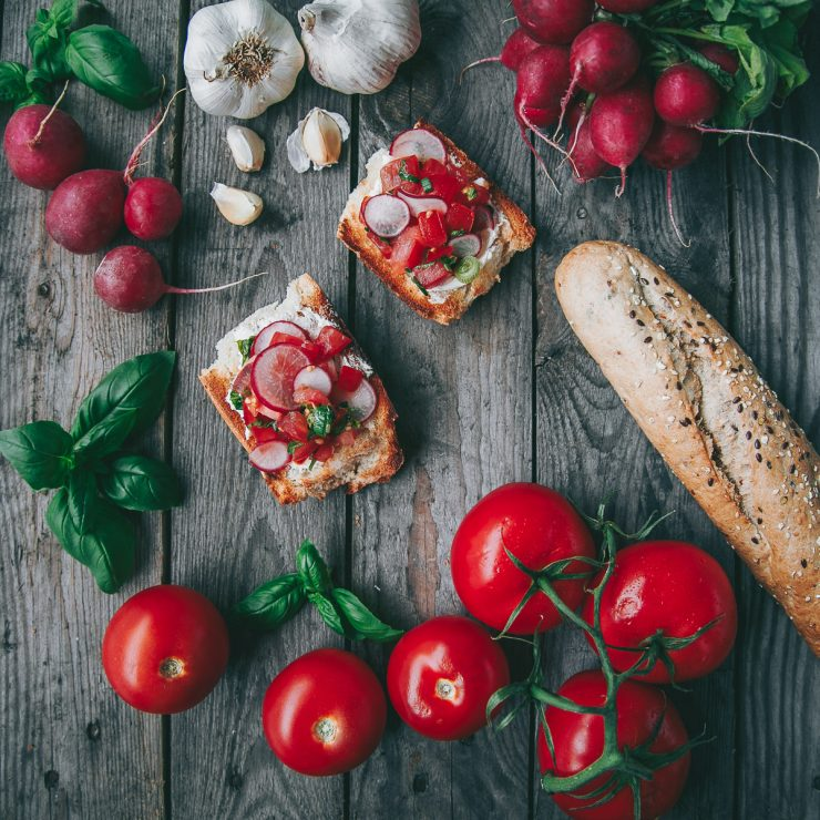 Radish Bruscetta Recipe on The Adagio Blog | Recipe, styling and photos by Thais FK for Smeg Nordic