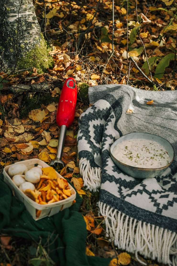 Creamy mushroom soup for Smeg Hand Blender - Recipe, styling and photos by Thais FK