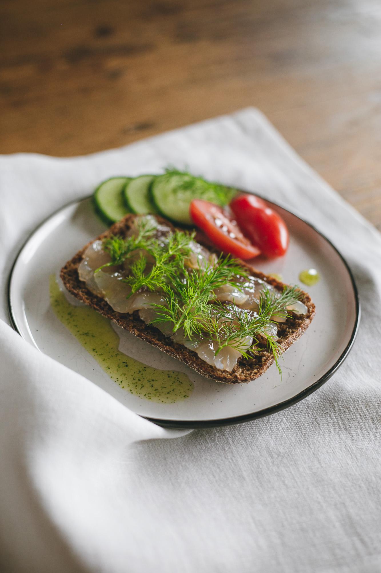 Graved Whitefish Sandwich - The Adagio Blog