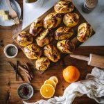 Saffron Cinammon Buns with Orange Vanilla glaze (Korvapuusti) - The Adagio Blog